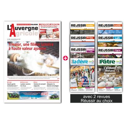 L'Auvergne agricole + 2 revues Réussir