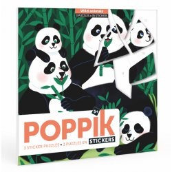 3 puzzles en stickers: Animaux