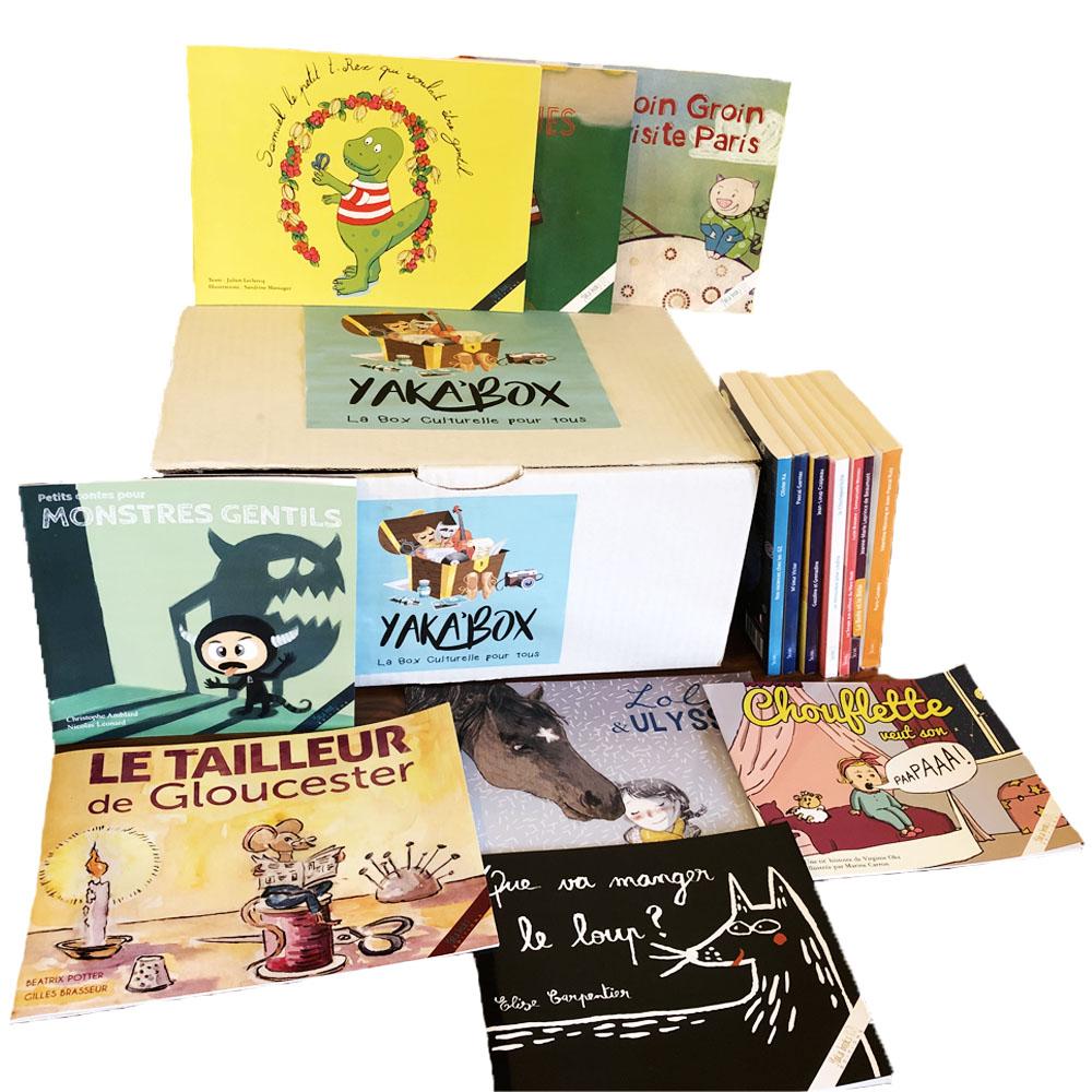Yaka\'Box Junior le coffret lecture pour enfants avec 16 livres jeunesse
