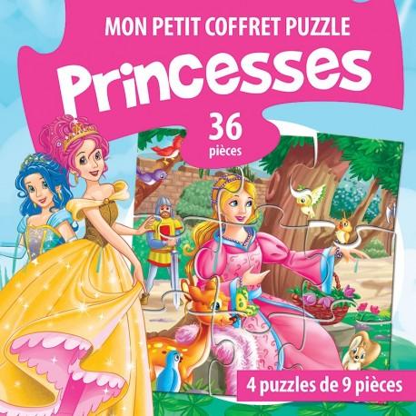 Mon petit coffret puzzle princesses 36 pièces