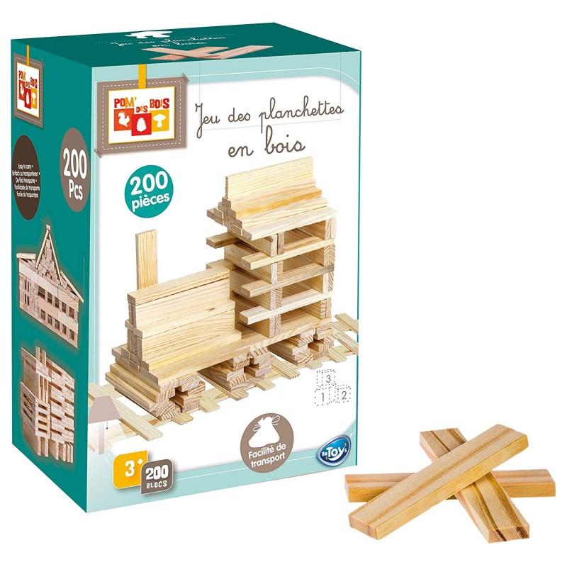 Jeu de Création en bois 200 planchettes Naturel