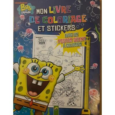 Bob l'éponge Mon livre de coloriage et stickers