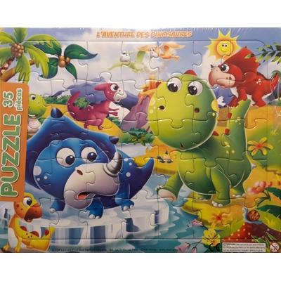Puzzle 35 pièces L'aventure des dinosaures