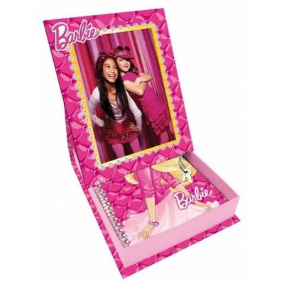 Barbie mon coffret cadre photo avec journal intime fermant à clé