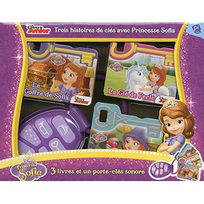 Trois histoires de clés avec Princesse Sofia : Contient 3 livres et 1 porte-clé sonore