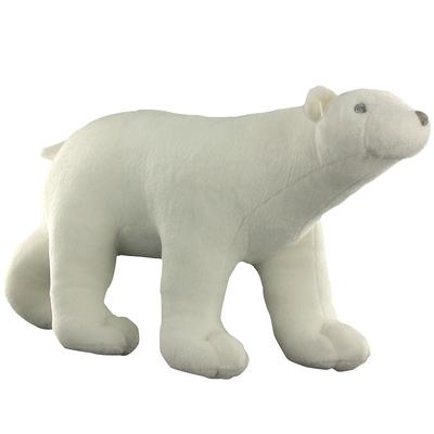 Peluche Ours blanc Pompon