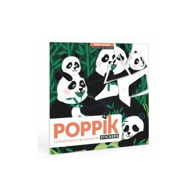 3 puzzles en stickers: Animaux