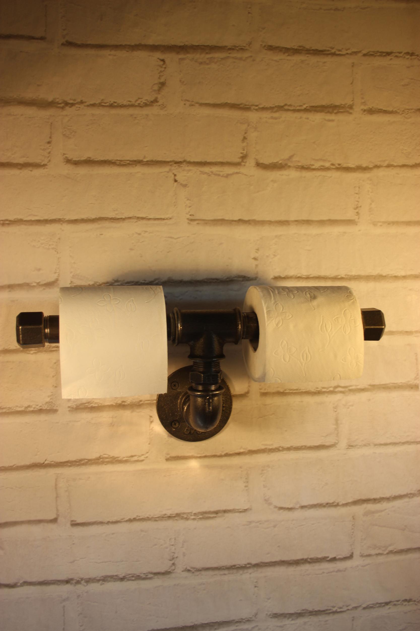 Dérouleur papier toilette double symétrie en T