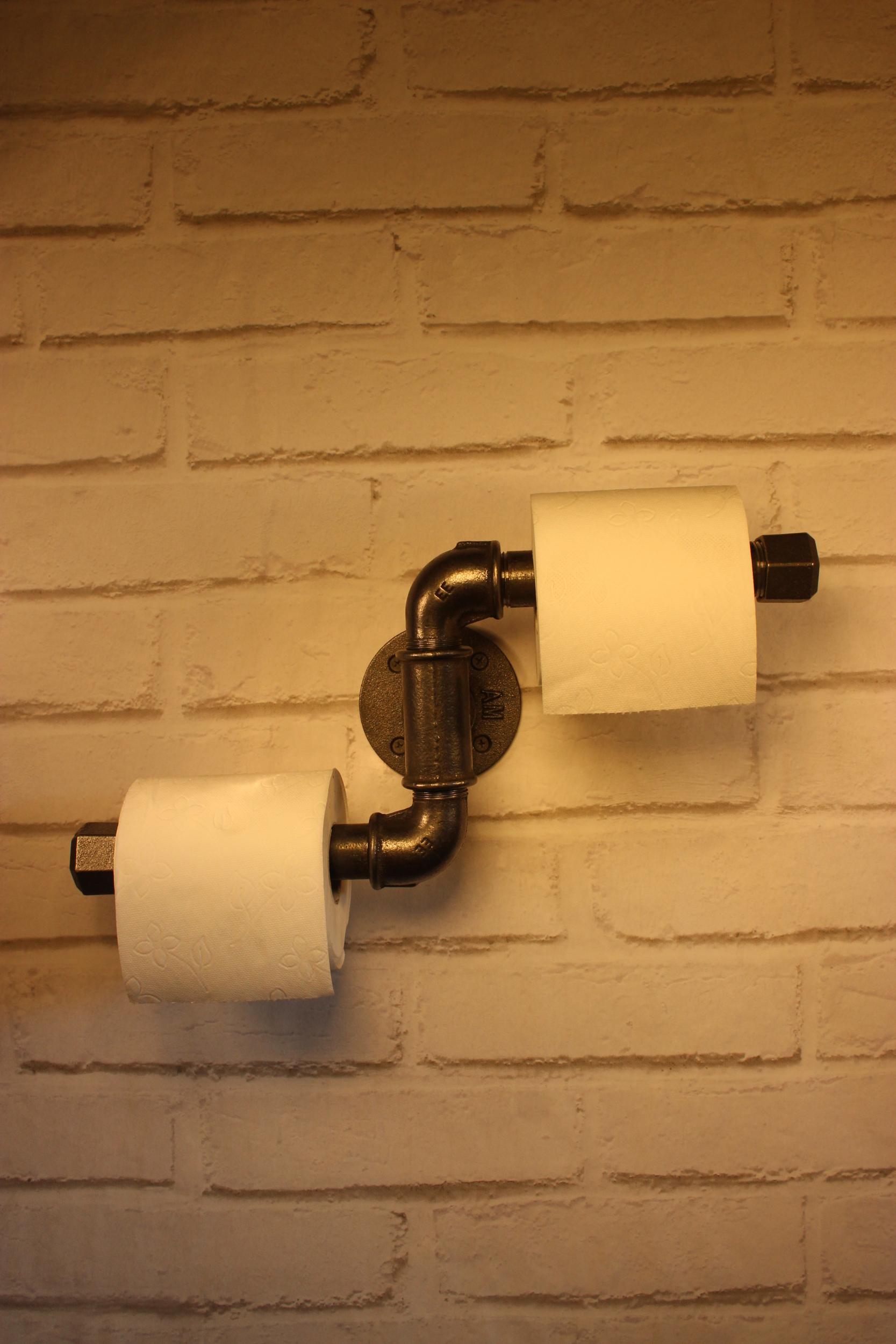 Dérouleur papier toilette double zig-zag