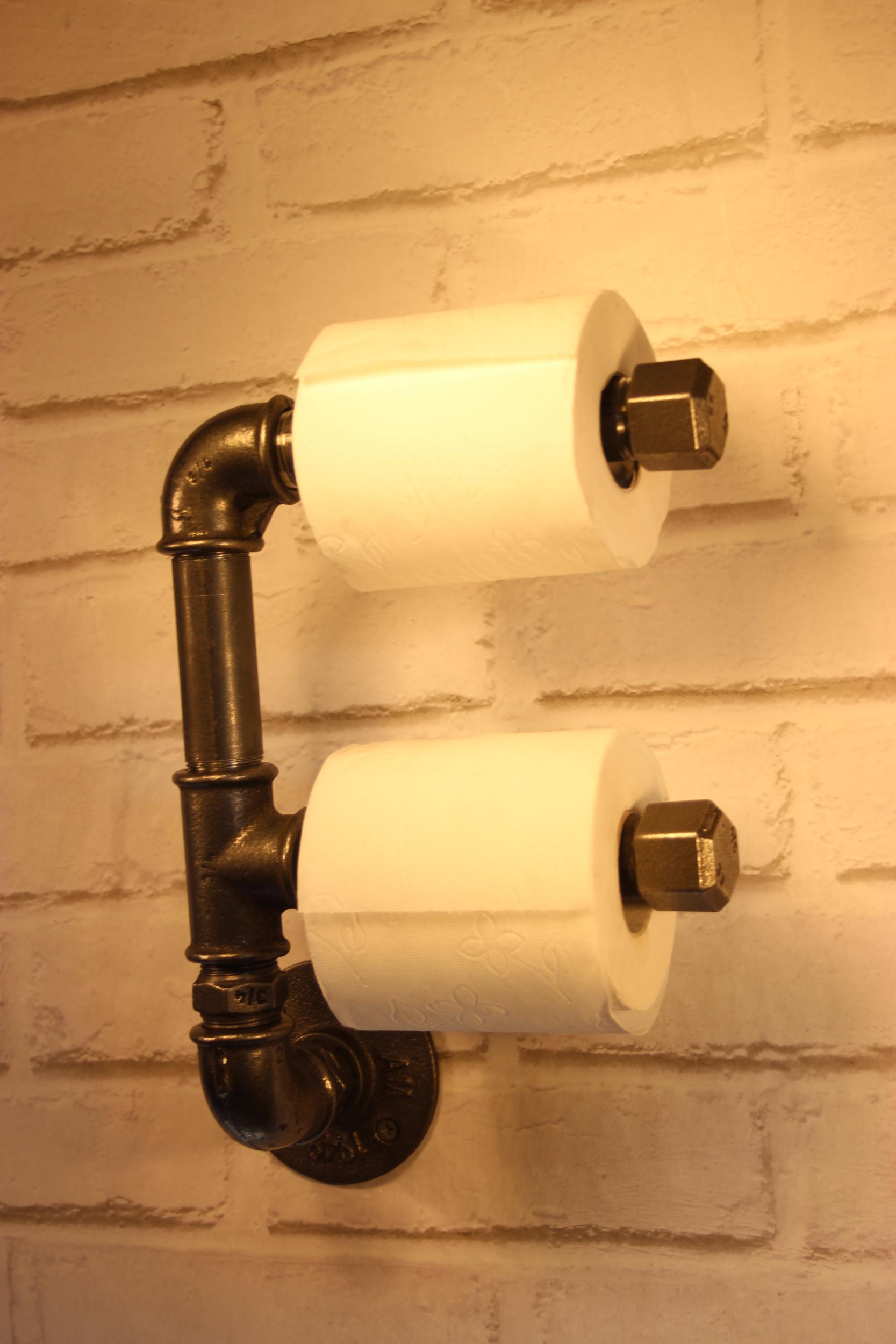 Dérouleur papier toilette double superposé