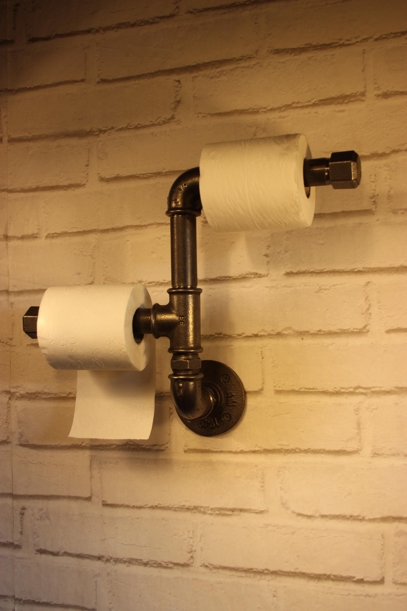 Dérouleur papier toilette double asymétrique
