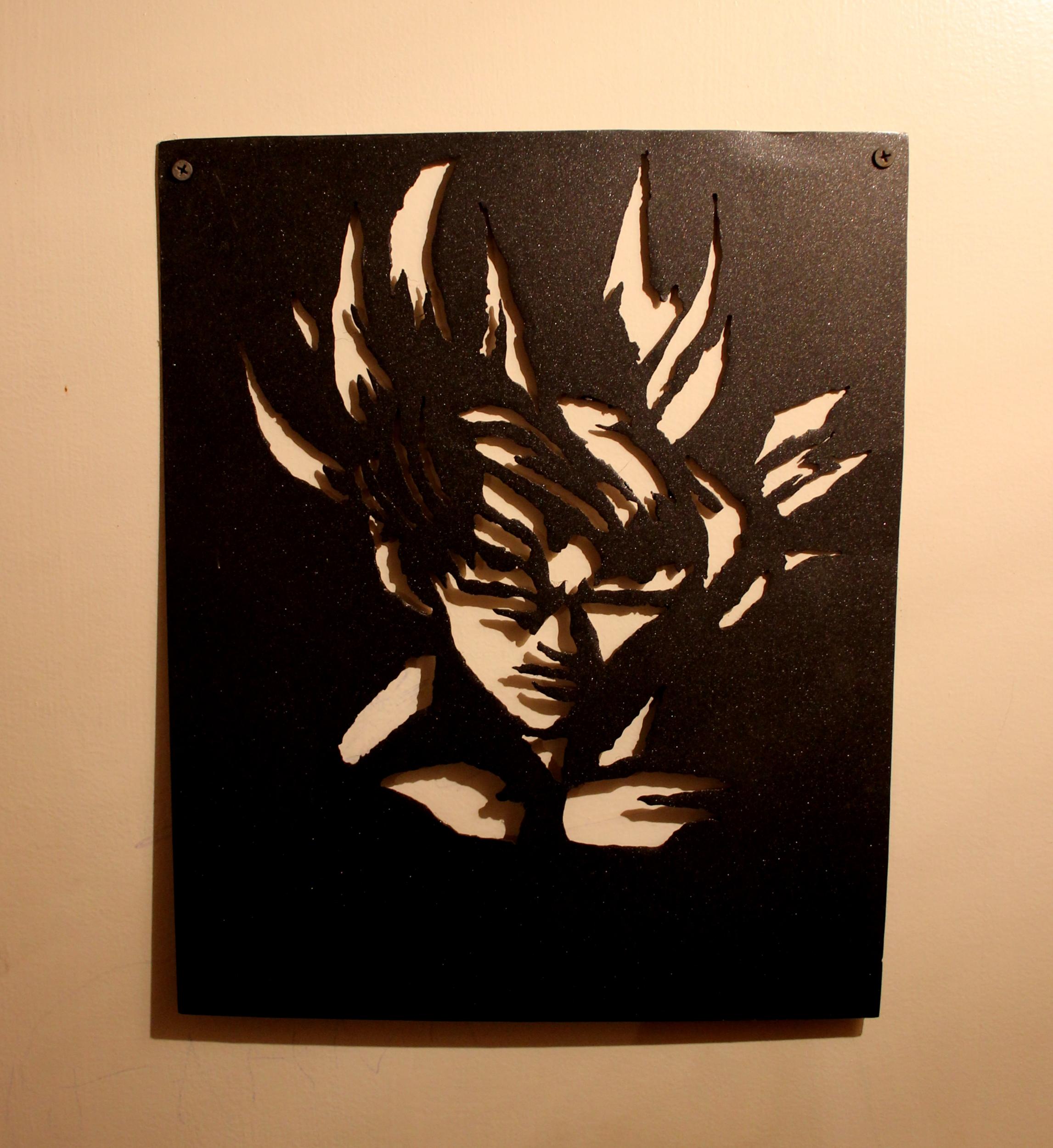 Décoration murale Dragon Ball Z Sangoku / Personnalisable