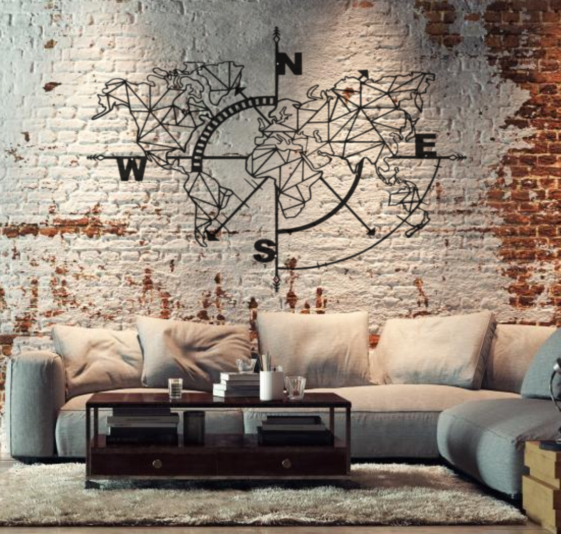 deco murale map monde