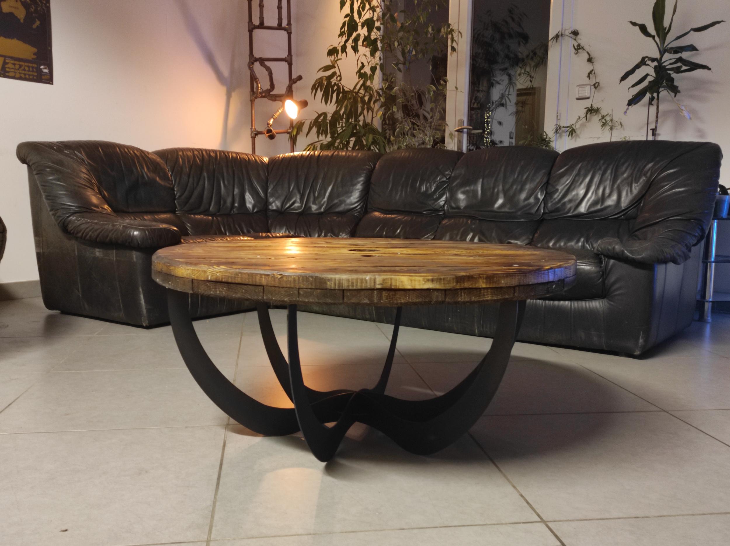 Table basse ronde LOFT