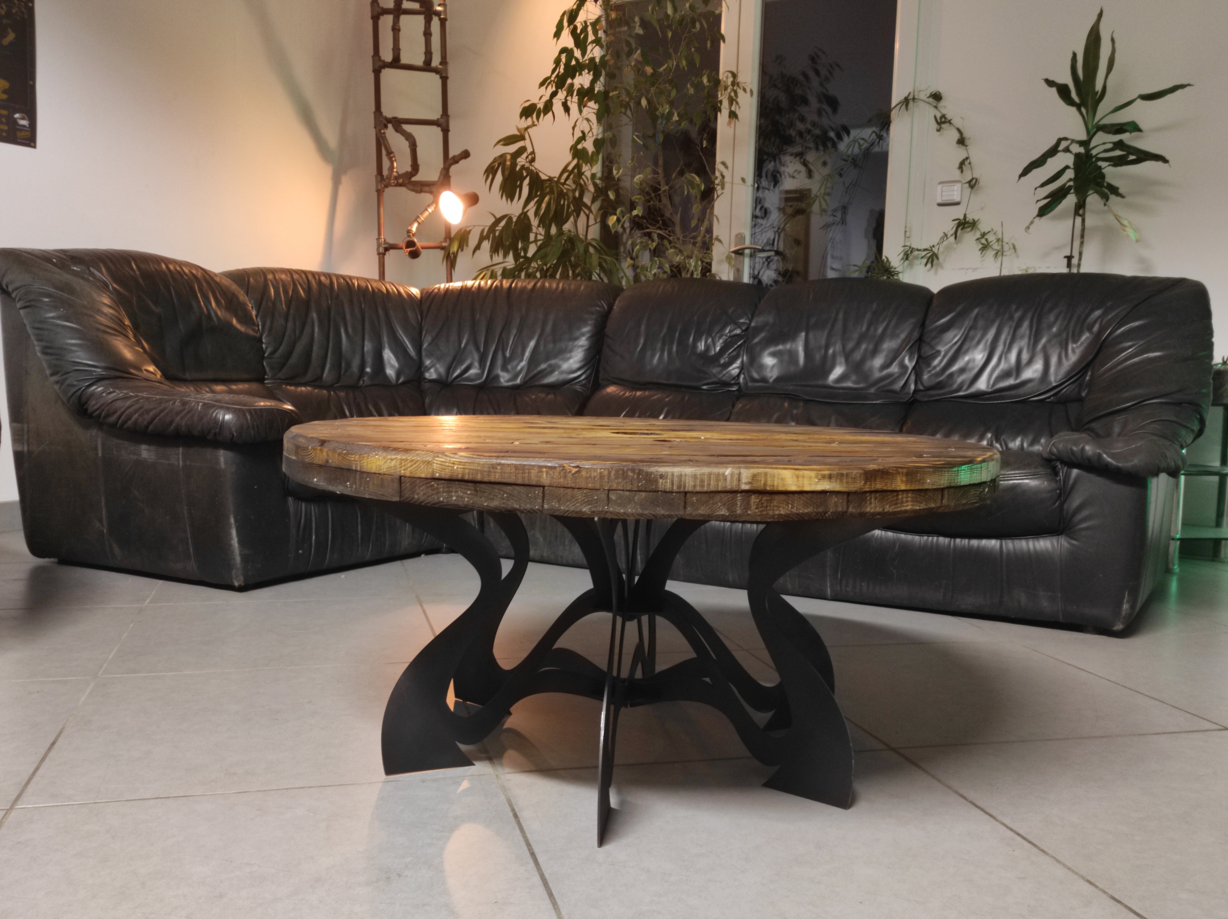 Table basse ronde BUTTER