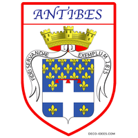 Sticker, Blazon de ANTIBES