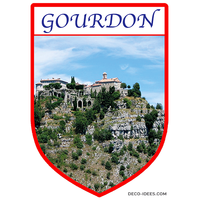 Sticker, Blazon de GOURDON