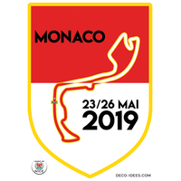 Sticker blason MONACO le Grand Prix F1 2019