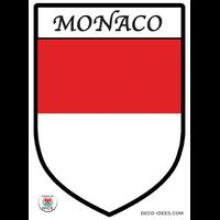 Sticker blason MONACO