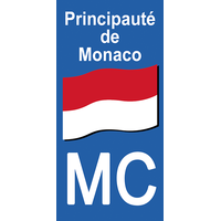 2 Stickers for license plate, Principauté de MONACO
