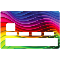 Credit card Sticker, Rainbow wave