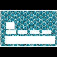 Credit card Sticker, cone bleu