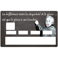 Credit Card Sticker, Albert Einstein, Genius