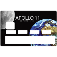 Credit card Sticker, APOLLO 11, 50 years later