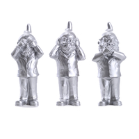 The 3 Garden Gnomes, who do not want to see, not hear, speak, color Silver