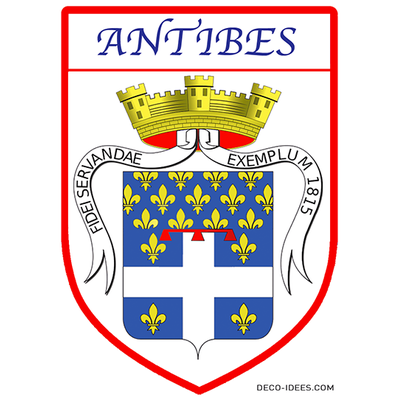 Sticker, Blazon de ANTIBES
