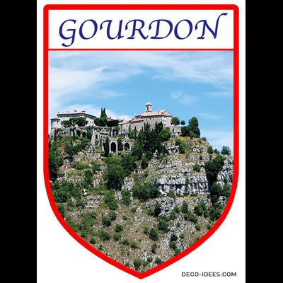 Sticker, Blazon de GOURDON