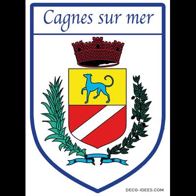 Sticker, Blazon de CAGNES SUR MER
