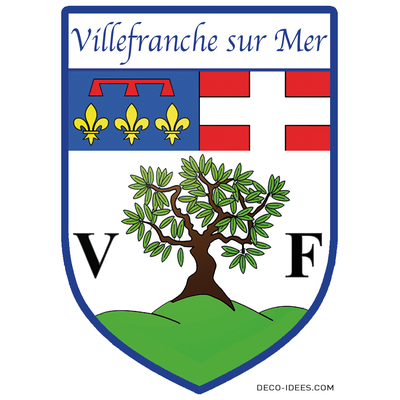 Sticker, Blazon de VILLEFRANCHE SUR MER