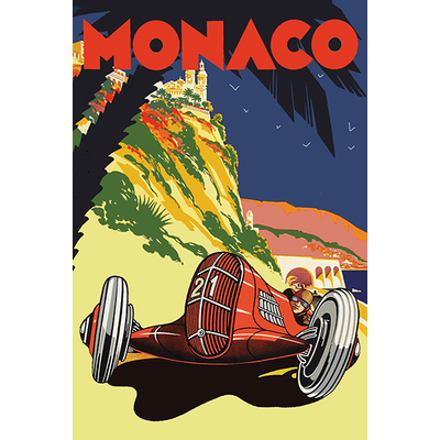 Sticker, format post card, MONACO