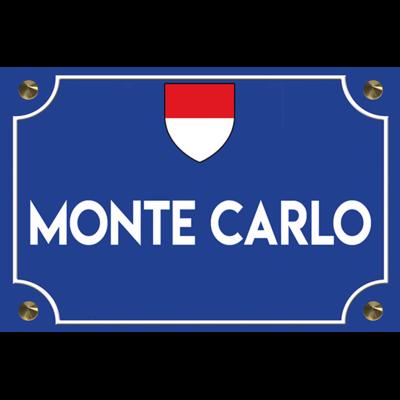Sticker street name, MONTE CARLO