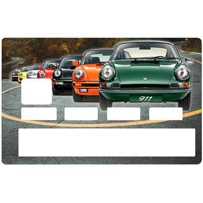 Credit card Sticker,  tribute to Porsche 911 collection
