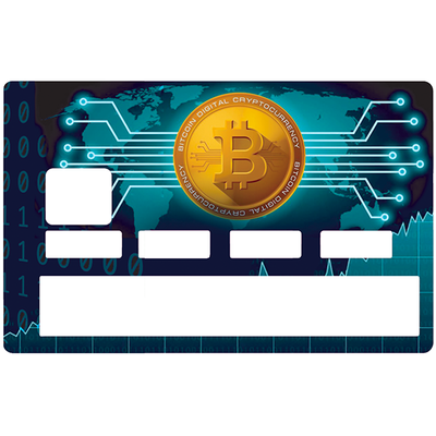 Credit card Sticker, Bitcoin, by Dgedenice