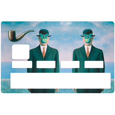 Credit card Sticker, Tribute to MAGRITTE