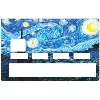 Credit card Sticker, Tribute to Van Gogh