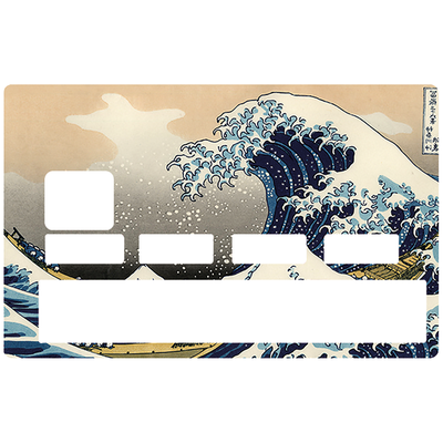 Credit card Sticker, The Great Wave of Kanagawa from Hokusai