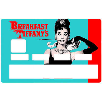 Credit card Sticker,  tribute to Audrey Hepburn