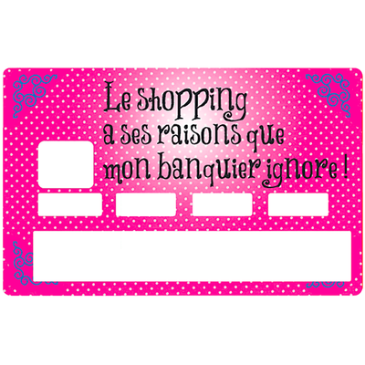 Credit card Sticker, shopping has its reasons that my banker ignores , by Dgedenice