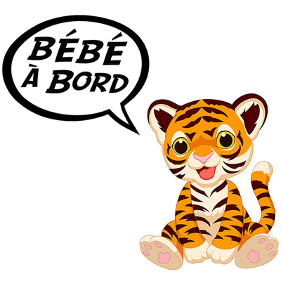 Sticker, Baby on board! Baby Tiger