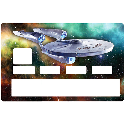 Credit card Sticker, tribute to Star Trek enterprise NCC1701