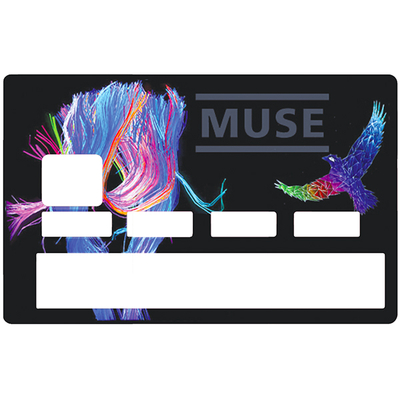 Credit card Sticker, tribute to Muse