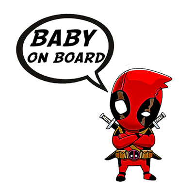 Sticker, Baby on board! DeadPool determined