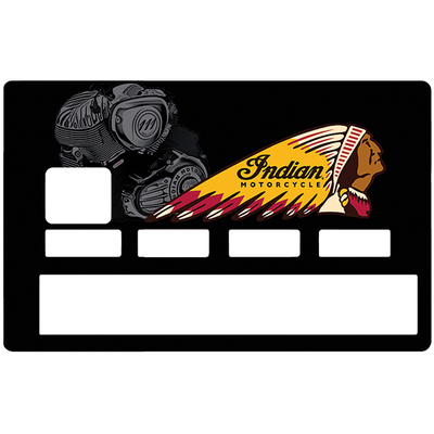 Credit card sticker, Tribute to Indian Motorcycle