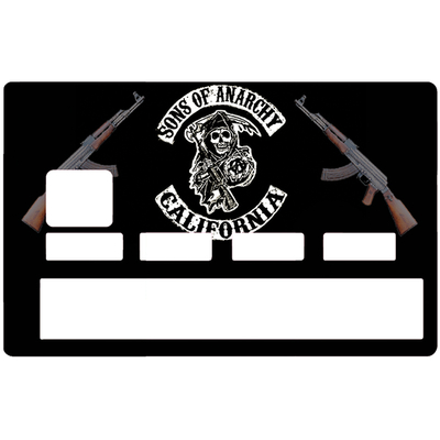 Credit card sticker, Tribute to Son Of Anarchy