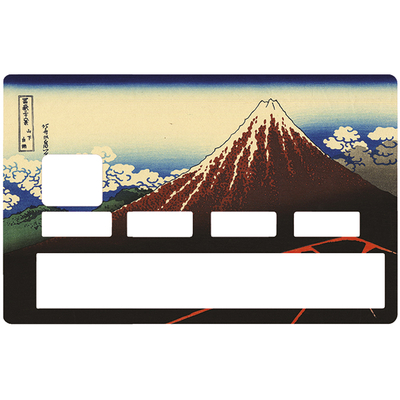 Credit card Sticker, Thunderstorm under the summit, HOKUSAI