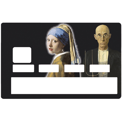 Credit card Sticker, the girl and the peasant